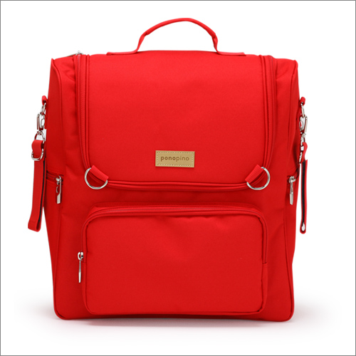 Ponopino diaper bag-Prench Red